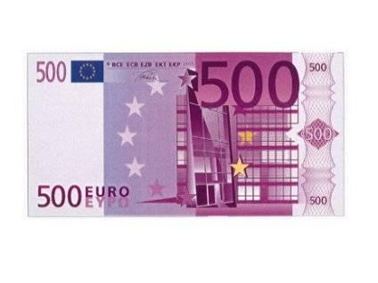 500, cinquecento, €, regalo, pegno, sicurezza, taglio, grande, futurista, viola, acconto, rendita, pagare, avere