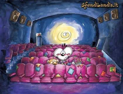 diddl, cinema, topo, amicizia, film, divertimento, popcorn
