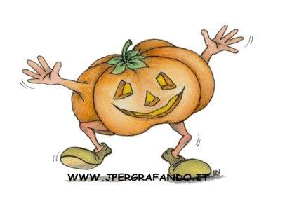 zucca, halloween, docletto, scherzetto, animata, festa, divertimento, paura