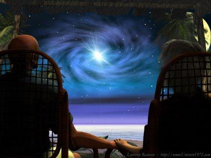 Notte di stelle, anziani, coppia, eterna, sapere, amarsi, ancora, difficile, farcela, bello, riuscirci, impresa, saggezza