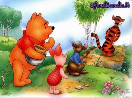 Winnie  The Pooh,Tigro, pinky, maialino, tigrotto, amicizia