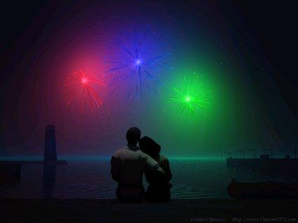 momento, cartoline d'amore, effetto colori, cinema, romantico, passionale, serata al faro, due, 2