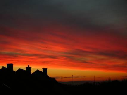 alba, luci, monaco, paesaggi, rosso, sole