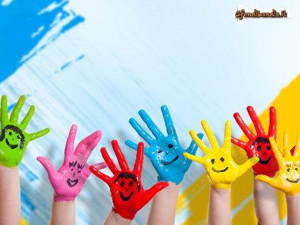 mani, festa, giocare, colorarsi, amici, desiderio, gioia