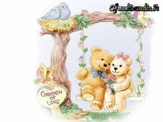 garden of love, fiori, campo, nido, fili, legno, cartoline dondolo, immagini di amore
