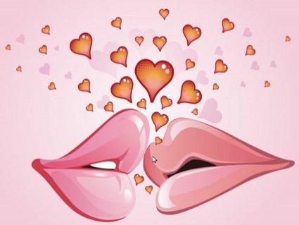 amore, baci, san valentino, cuori, capanna
