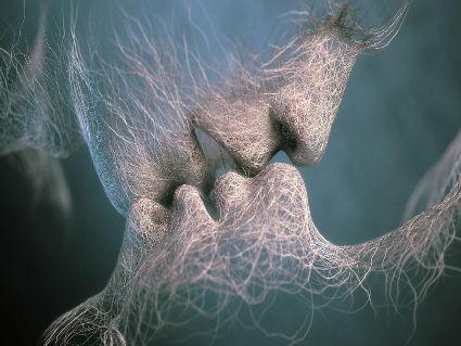 baci, digitale, arte, segni, caratteri, illusione