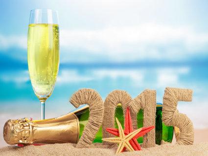 auguri, caraibi, anno nuovo, festa, caldo, freddo, veglione