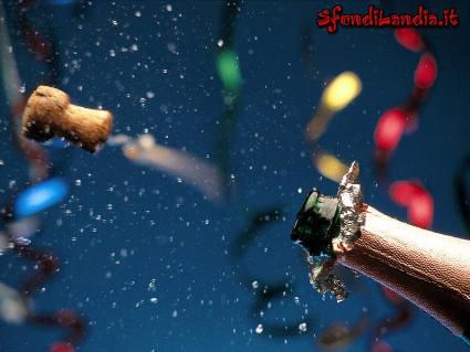 cartolina capodanno, spumante, tappo, stappare, auguri sms, invio, scrivere, mandare, festa, cenone, festa capodanno