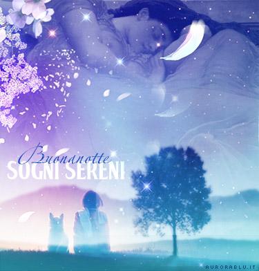 cartoline buona notte, augurare un sonno sereno, luna, alberi, aurora, dormire, sognare, alba