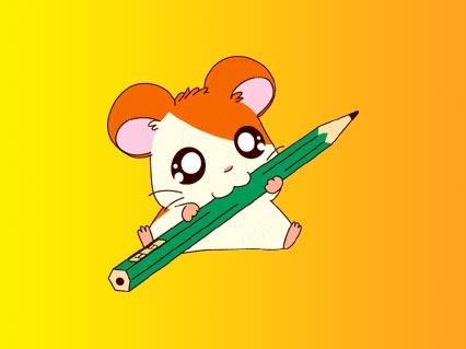 matita, verde, colori, scatola, temperare, traccia, segno, divertito, morso, giallo