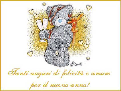 cartolina teddy, auguri orsetto, calici, bicchieri, spumante, bollicine, cin cin, brindisi, mms, logo, cartolina, immagine capodanno