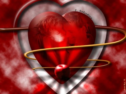 cuore, scritta, mela, cartoline amore, immagine, digitale, striscia, velo, sangue, rosso, amore, festa, calore, baci, consumismo, consumi, giro, soldi