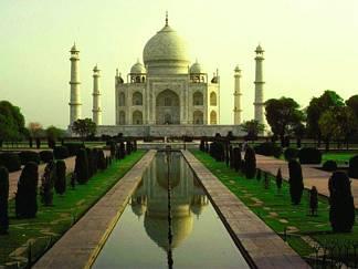 indiano, mussulmano, costruzione, giardini, curati