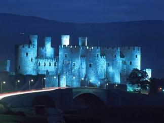 castello, notturno, visione, fantasmi, rocca, fiabesco, illuminazione, stupenda, risaltare, risalto
