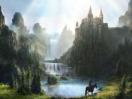 cavalli, monti, castelli, fortezze, difesa, solitario, guerrieri, eroi