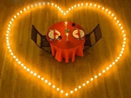 cena, amore, candele, rosso, passione, festa, ricorrenza, anniversario