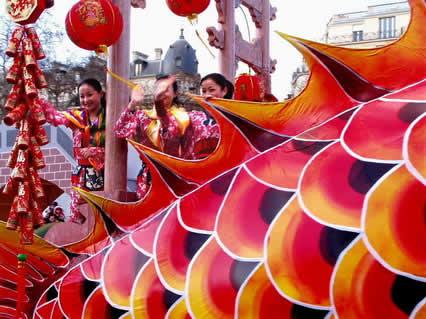 drago, coda, cinese, capodanno, festa, parigi, 22, gennaio, internazionali, estere, immigrati