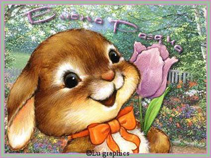 Buona pasqua card cartoline gif animate immagini e - Modelli di coniglietto pasquale gratis ...