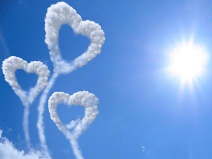 amore, aquiloni, volare, nubi, sole, salire