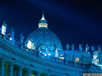 bernini, san, pietro, cupola, colonnato, romano, massi, colosseo