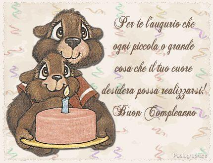 augurio, realizzare, affetto, torta, candeline, festa, scoiattoli