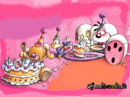 cartoline compleanno, festa, torta diddl, auguri, amici, regali, torta compleanno