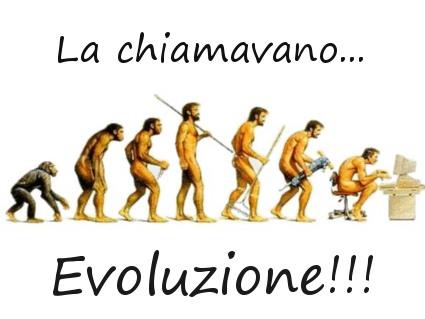 uomo, specie, progresso, regrecco, pc, computer, sedentario, lancia, darwin
