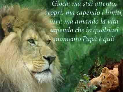 cartoline festa del papa, auguri, leone, protezione, sicurezza, controllo, vivi lascia vivere, scoprire