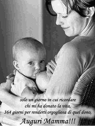 cartoline festa della mamma, sentire, augurare, orgoglio, amore, festa seconda del mese di maggio, bimbo, allattare