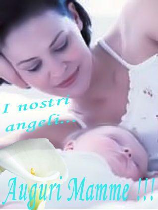 cartoline festa della mamma, calla, fiore, augurio, angeli, bimbi