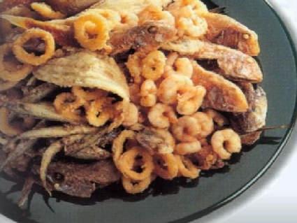 bistecca, carne, cottura, taglio, alto, vitellone di razza calamari, gamberi, fritto, olio, panatura, pesci, ungere, sale, sapori, saporito, moscard