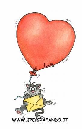 palloncino, cuoricino, cartoline d'amore, busta, lettera, laura, aria, elio, volare