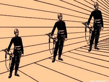 illudere, occhio, inganno, misura, scalare, prospettiva
