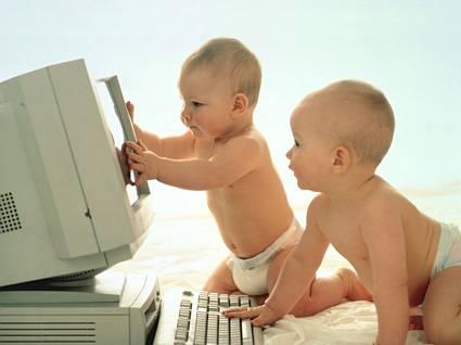 I geni del computer,bambini, genio, computer, informatici, neonati, neonati, pc, personal computer