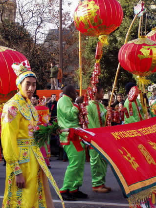 intercultura, integrazione, cinesi, capodanno, festa, strada, gennaio