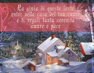 gioia, cartoline natale, festa, entri, casa, cuore, regali, tanta, serenità , amore