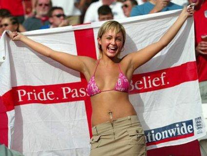 inglesi, tifo, gioia, festa, ragazza