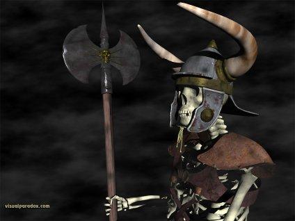 scheletri, teschio, ossa, ascia, guerra, elmetto, legionario, morte, corazza, armatura, bicorna, corna