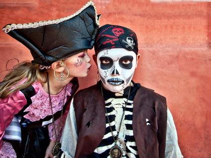 pirati, maschere, affetto, giochi, bambini