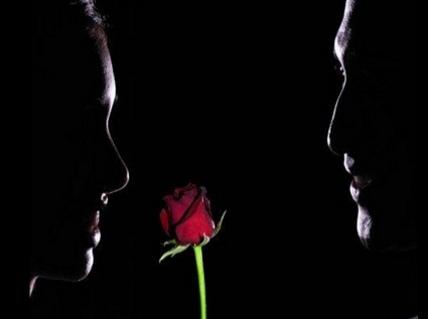 cartoline d'amore, le rose, gioai, amami, luci e ombre, riflesso, rosso, passione, cena romantica