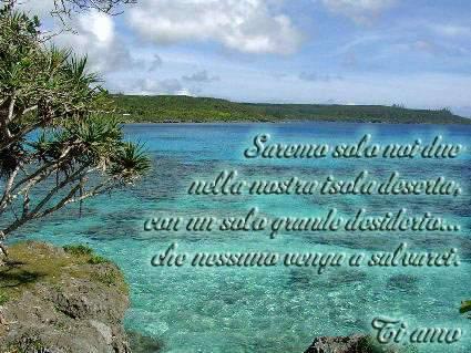 Estremamente Invia Isola d amore come cartolina su facebook e whatsapp LI97