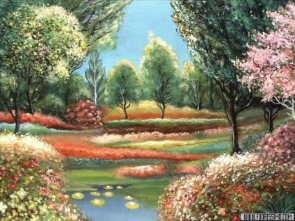 bacino, fiori, stagno, piante, rispecchiare, riflesso, oasi, pace, bello, belle, relax, rilassare