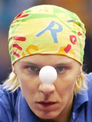 cartoline ping pong, pallina, fissare, concentrazione, tennis tavolo, occhi