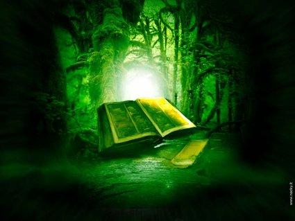 libro, fantasy, verde, foresta, cultura, pozioni, sortilegi, stregonerie, incantesimi