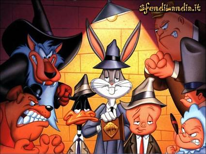 looney toons, gangster, bugsbunny, duffy duck