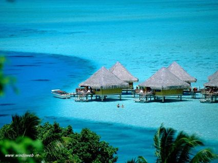 paradiso, alberi, palafitte, mare, riposo, relax, tuffi, sabbia, bianca, colori, celeste