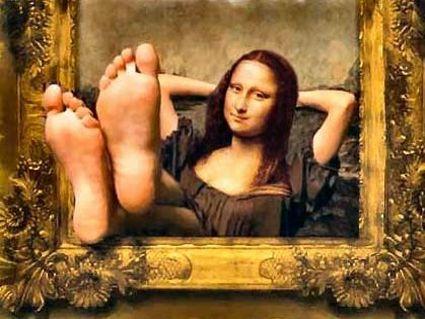 arte, umorismo, leonardo, piedi, stress, visitatori, caldo