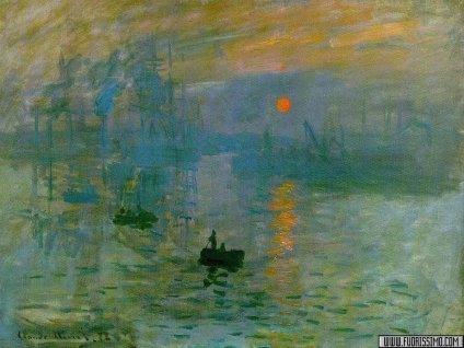 Monet,Impression, soleil levant,dipinti, quadri, celebri, artisti, famosi