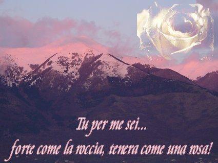 rosato, effetto, roccia, tramonto, tinta, grande monte, sotto, villaggio, paesino, case, nord, tempo, sereno, neve, nevicato, nevicare